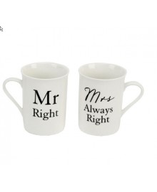 "Κούπες ""Mr Right & Mrs Always Right"""